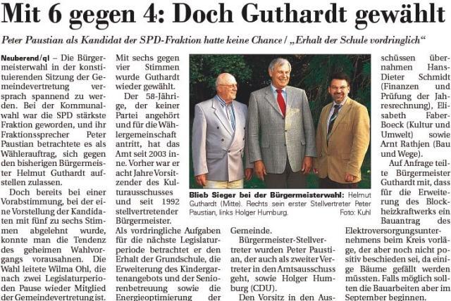 Doch Guthard gewählt