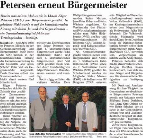 Petersen erneut Bürgermeister