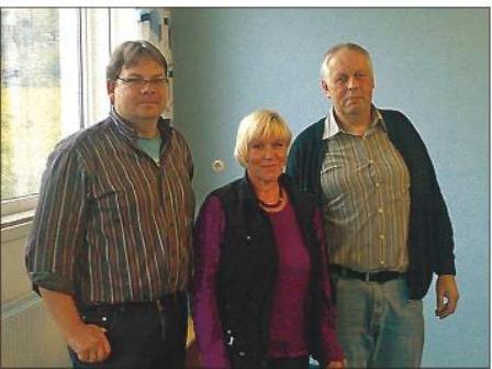 Das neue Führungstrio: Schulverbandsvorsteher Peter Hermann Petersen (rechts), Kay-Stefan Harms und Ute Selzer-Petersen.