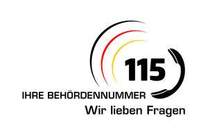 115 Logo mit Schriftfzug