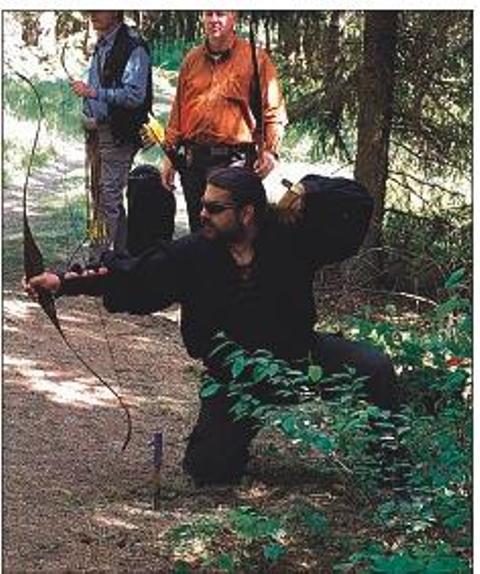 Bogenschützen in Aktion